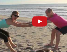 Partner Elongation Stretch for Scoliosis with Karena Thek and Brett Miller