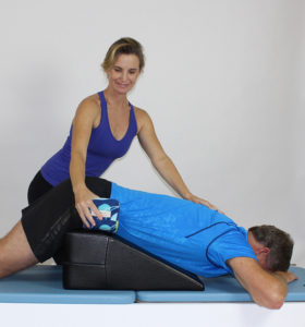 K2 with prone elongation with Scolio Wedge